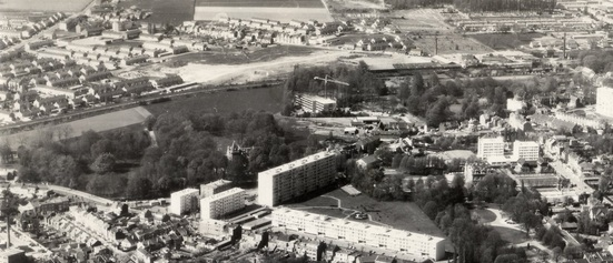 """2ème Vue Aérienne du site """"Bonte"""" en 1976"""