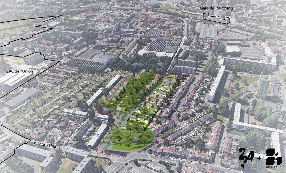 WATTRELOS - Quartier les villas - Projet de renouvellement urbain